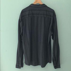 Prana Shirts - Prana XL Breathe Gray & Black Long Sleeve Shirt
